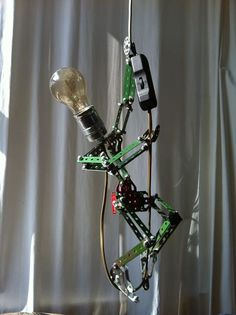 Meccano Lamp. For more examples check the facebook page. https://www.facebook.com/OomJanLampen