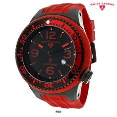 Swiss Legend Men's Neptune Watch with Silicone Strap - Assorted Styles at 90% Savings off Retail!