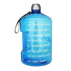 89702d047c 1 Gallon Water Bottle Motivational Fitness Workout with Time Marker |Drink  More Water Daily