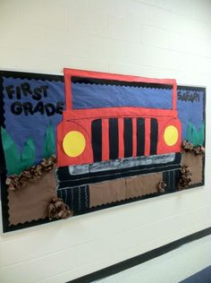 Back to school bulletin board-- thank you pinterest!                                                                                                                                                      More