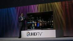 """Samsung touted today at CES it's new lineup of """"SUHD"""" smart televisions for 2015 in sizes from 48″ to 88″ that run Tizen OS."""