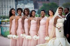 These bridesmaids dresses are gorgeous !  We're so thrilled to announce our newest coterie member @goldenstyleconsulting. Be sure to check out the blog and view their photos. Blush Bridesmaid Dresses, Bridesmaids And Groomsmen, Wedding Bridesmaids, Wedding Poses, Wedding Attire, Wedding Dresses, Wedding Ideas, Bridal Beauty, Bridal Looks