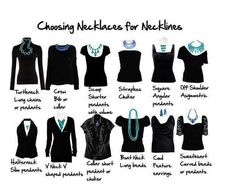 This guide is very helpful in choosing the right length necklace for a outfit.
