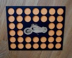 Motorcycle Engraved Poker Chip Insert fits 36 by CarvedByHeart