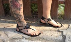 Genuine leather Barefoot Huarache sandals