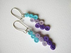 Bib Simple Paper Earrings 1 st Anniversary gift by SbirOtak Paper Quilling Earrings, Quilling Craft, Quilling Patterns, Quilling Designs, Paper Jewelry, Paper Beads, Jewelry Crafts, Homemade Wedding Gifts, Homemade Anniversary Gifts