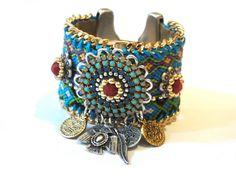 Nativo Americano / Azteca - Navajo amistad inspirada brazalete pulsera - joyas declaración - joyas navajo - joyas boho hippie chic