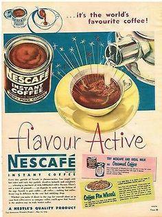 Nescafe ~ Australia 1958.    ☕