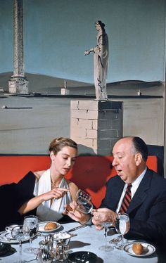 Vera Miles and Alfred Hitchcock in New York City, photographed by Elliott Erwitt (1957)