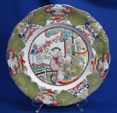 Early antique Mason's staffordshire dinner plate. Piece is a beautiful Chinese family scene pattern. We really do love to hear from you! We pride ourselves on finding beautiful antiques at reasonable prices. | eBay!