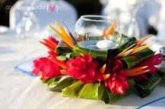 maui tropical centerpieces for wedding -