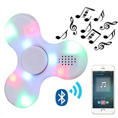 Kivors Speaker Fidget Spinner, Wireless Bluetooth Speakers Music Fidget Spinner Toy Reducer EDC Hand Spinner For ADHD, Anxiety, Autism Kids Adult Toy Gifts, White -- Want to know more, click on the image. (This is an affiliate link and I receive a commission for the sales)