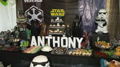 star wars party cake table