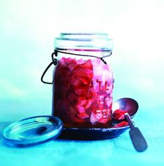 Pickled rhubarb recipe - Chatelaine.com Must try since I have so much rhubarb in garden.