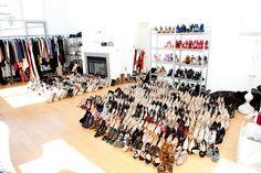 Who needs a living room?  Just turn it into a shoe closet / wardrobe room.  @Melody Gee Darnall  and @ Andrea Lowe Cockrum