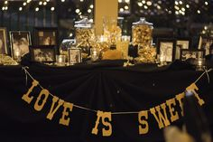 Kyle + Sarah Photo By Mitchell J Photography + DIY Candy Bar + Las Sendas Golf Club Wedding + Black and Gold Wedding + Love is Sweet + Family Wedding Photos