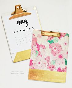 My Fabuless Life: DIY GOLD LEAF CLIPBOARDS