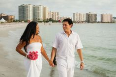 There's nothing like a walk on the beach following your wedding ceremony! Photo by: @wri7913