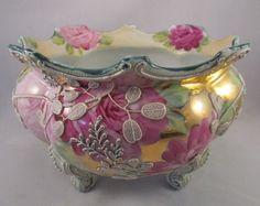 Stunning Antique Nippon Moriage Roses Ferner with Gold Foil Royal Moriye 90 | eBay