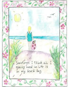 All I Need is in my Beach Bag card by Sandy Gingras
