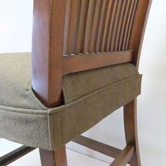 idea by Pepper design use 4 command strips to hold down the cushion Kitchen Chair Cover Ideas on kitchen cake ideas, kitchen drapes ideas, kitchen tables ideas, kitchen furniture ideas,