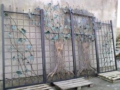 16 Awesome Gate Style That You Would Like to Copy Tor Design, Gate Design, Iron Garden Gates, Awesome, Home, Backyard, Decor, Style, Swag