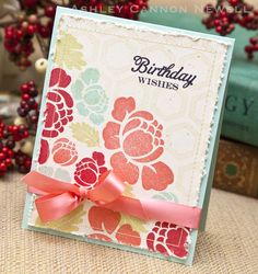 The card that Ashley made from her inspiration piece--fabulous!