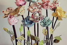 long stemmed fabric flowers #fabric #flowers
