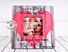 New Daddy Picture Frame, First Father's Day Gift, Dad and Baby Girl, Daddy Daughter Picture Frame, T Homemade Fathers Day Gifts, Diy Gifts For Dad, First Fathers Day Gifts, Fathers Day Crafts, Daddy Gifts, Boy Gifts, Daddy Picture Frame, Daddy Daughter Pictures, Personalized Picture Frames