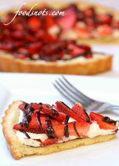 Strawberry Cream Cheese Tart…great for your Sweetheart on Valentine's Day!