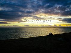 TITLE - Waikiki as the Sun Goes Down    This color print of beautiful hawaiian sunset from Waikiki Beach will be printed to order by a