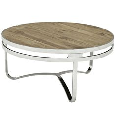 Modway Furniture - Provision Pine Wood and Stainless Steel Coffee Table Coffee Table 2019, Round Wood Coffee Table, Coffee Table Furniture, Rustic Coffee Tables, Stainless Steel Coffee Table, Winsome Wood, Brown Wood, Brown Brown, Teak Wood