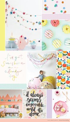 I'm taking a little blogging break for a few days, so I thought I'd leave you with this yummy mood board to peruse.   A selection of lovely...
