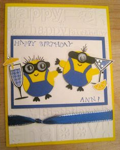 Birthday Partying Minion Card from Despicable Me
