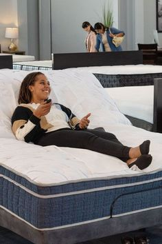 Customize your comfort! Rest or read, watch tv, or just relax in a variety of ergonomic positions with a Rejuven8 Adjustable Base. Available with wireless remote, massage, and wall-hugger features. #sleep #health #denvermattress #bedroom Adjustable Base, Improve Circulation, Sleeping Through The Night, Rest And Relaxation, Sleep Better, Just Relax, Denver, Mattress, Remote