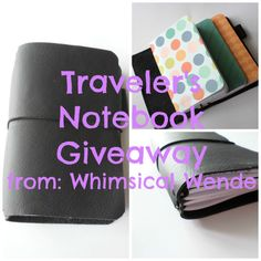 Midori Style Traveler's Notebook + Inserts GIVEAWAY!!!