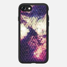 Casetify iPhone 7 Classic Grip Case - Purple Nebula Star White Geometric Chevron by Girly Road #Casetify