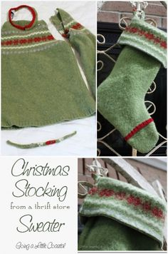 I need to find a Christmas sweater so I can make this stocking.