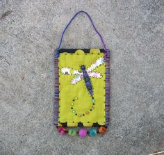 dragonfly wall quilt small folk art by gonetoseed on Etsy, $30.00
