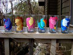 My Little Ponies Friendship is Magic glass set.
