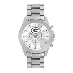 Green Bay Packers Ladies Quartz Analog Silver Round Case Silver Bracelet 39Mm Knockout