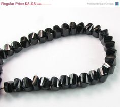 CIJ SHOP SALE Black Spinel Faceted Twisted Cube by BeadingHeartCo, $3.56