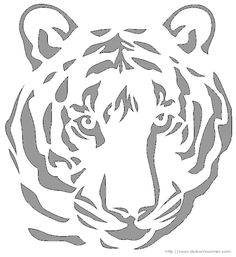 You are here: Home / Crafts / Tiger Face – Free Halloween Pumpkin Carving Patterns