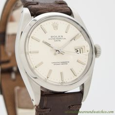 A real beauty! Here we have a 1968 Vintage Rolex Date Automatic Reference 1500 in Stainless Steel. This timepiece also comes equipped with a clean, original dial with applied, steel bar markers & a 26-jewel, automatic caliber 1570 movement. (Store...