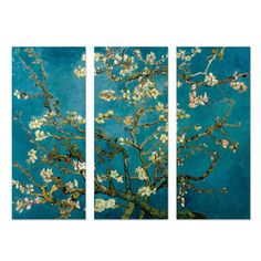 Blossoming Tree by Vincent Van Gogh Triptych, $179, now featured on Fab.
