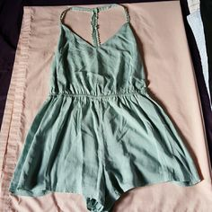 Urban Outfitters: Romper Color: mint. Condition: Brand new w/o tag Never been worn.  Perfect for summer! Make me an offer;) Urban Outfitters Dresses