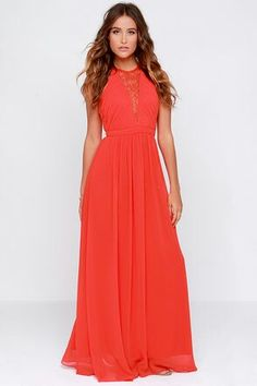 Coral Maxi Dress, Lulu's