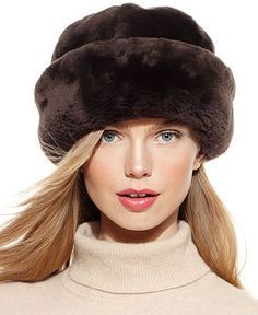 Surell Hat, Shearling Snowball Hat - Handbags & Accessories - Macy's