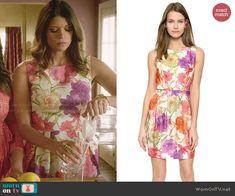 Xiomara's floral dress on Jane the Virgin.  Outfit Details: http://wornontv.net/47902/ #JanetheVirgin