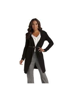 Kardashian Kollection Women's Ribbed Sweater Coat & Belt